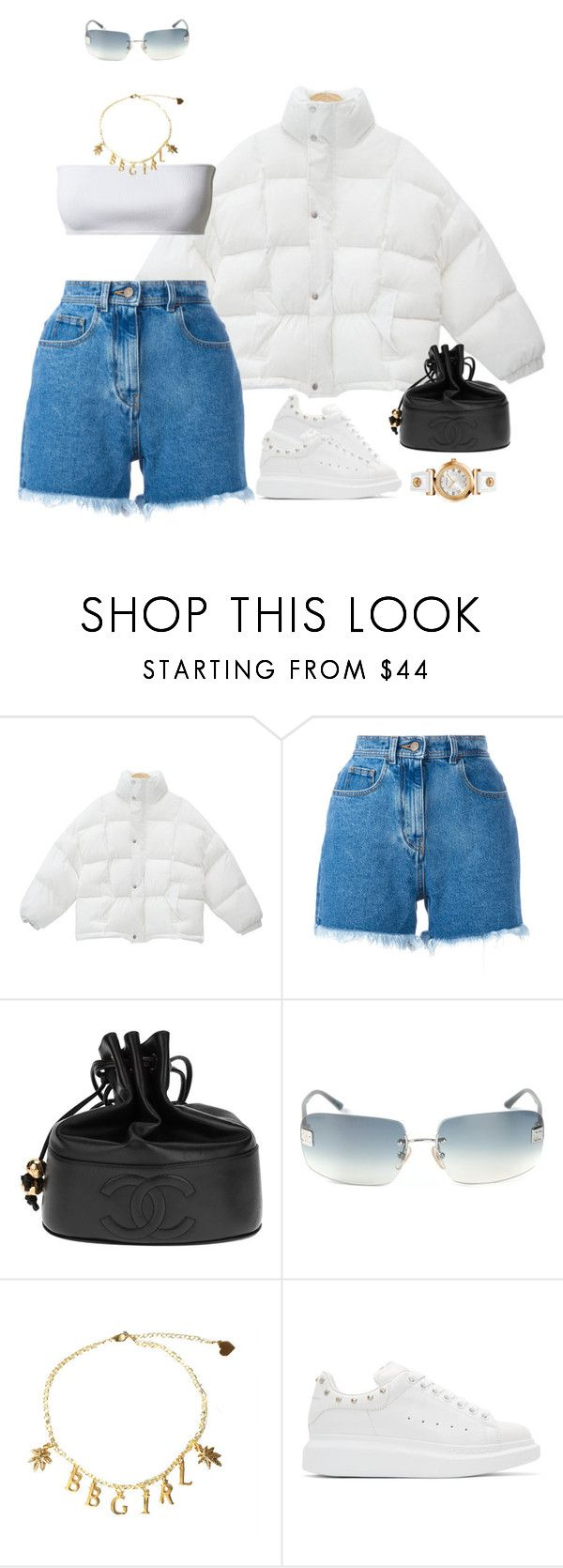 """Game 4"" by oh-aurora ❤ liked on Polyvore featuring Philosophy di Lorenzo Serafini, Chanel, Alexander McQueen and Versace"