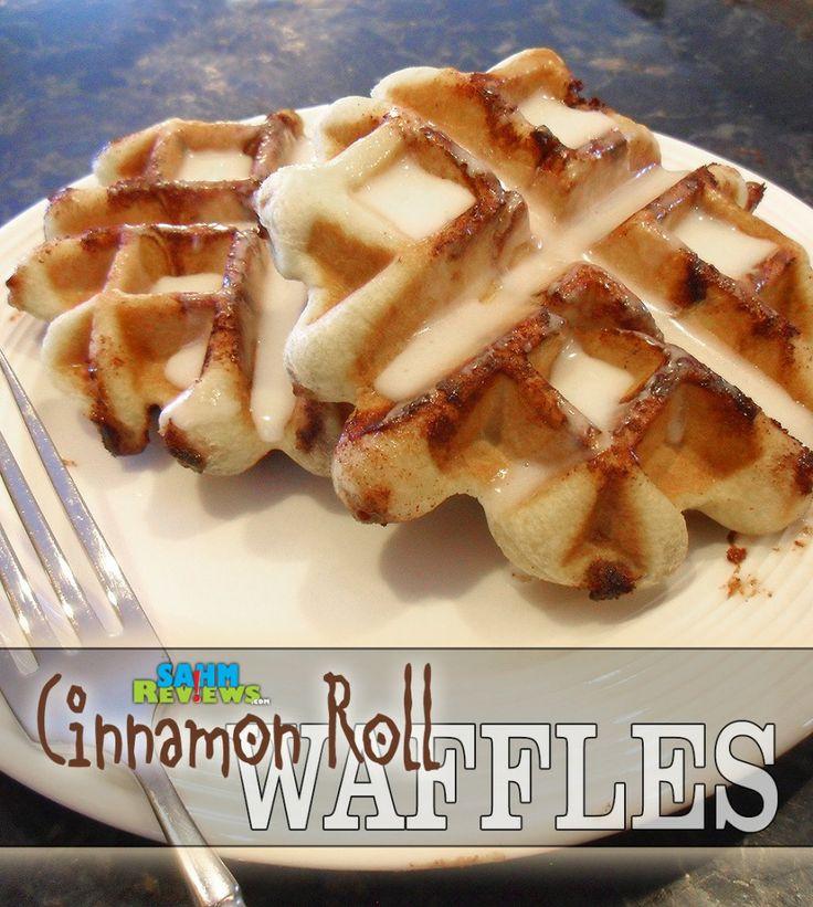 Cinnamon Roll Waffles - SahmReviews.com