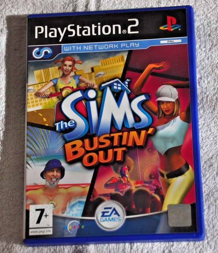 THE SIMS BUSTIN' OUT   Sony Playstation 2 Video Game    PS2