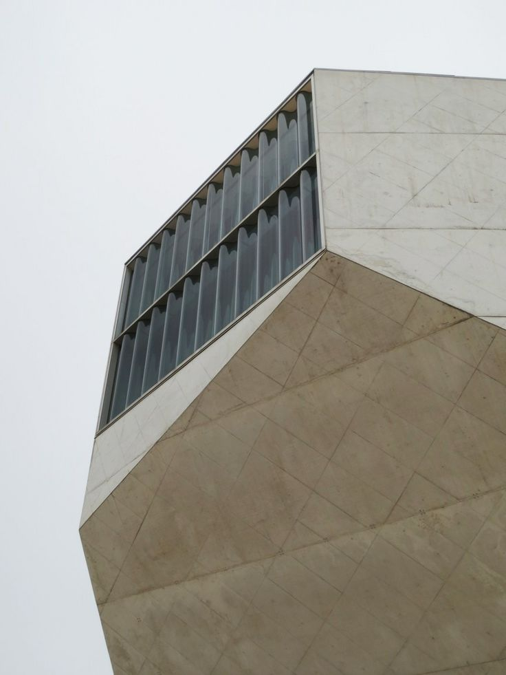 Casa di Musica architecture designed by the Dutch architect Rem Koolhaas with the curved windows