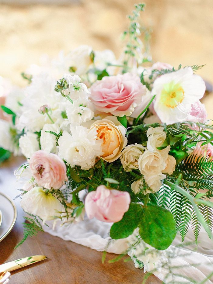 Peach, Pink, and White Wedding Flowers