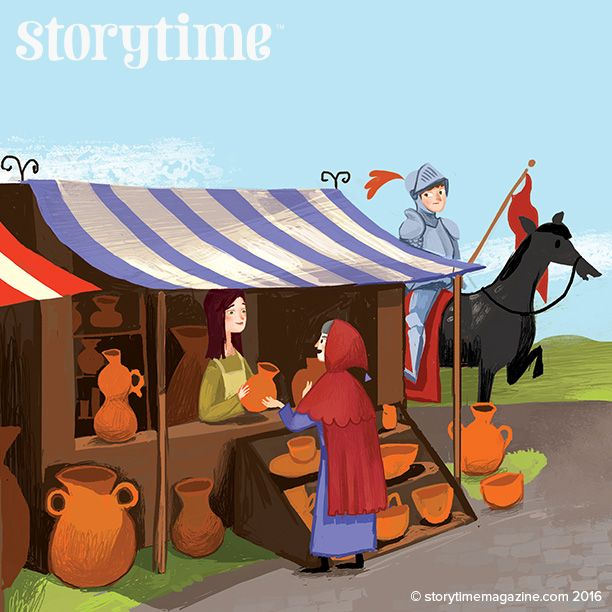 Storytime 28's classic fairy tale from the Brothers Grimm is the Fussy Princess. With art by @envodas ~ STORYTIMEMAGAZINE.COM