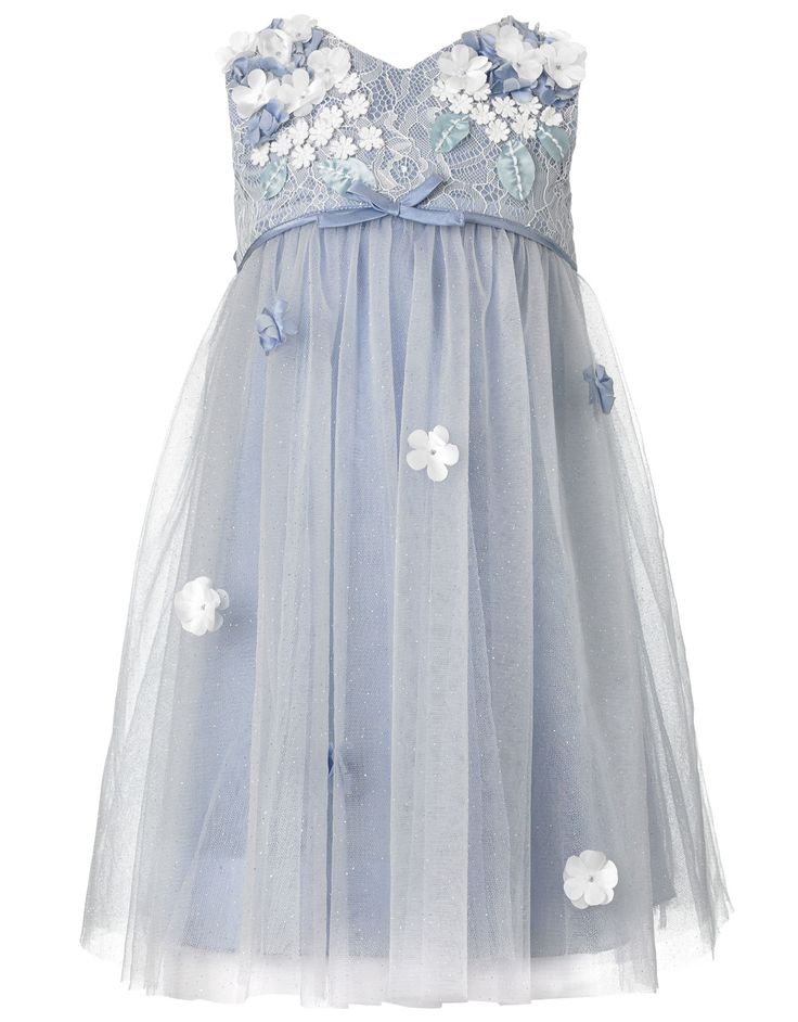 Baby Lilly Flower Dress | Blue | Monsoon