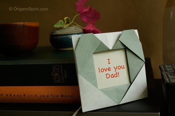 An Origami Heart -Perfect for Father's Day by Leyla Torres, Origami Spirit