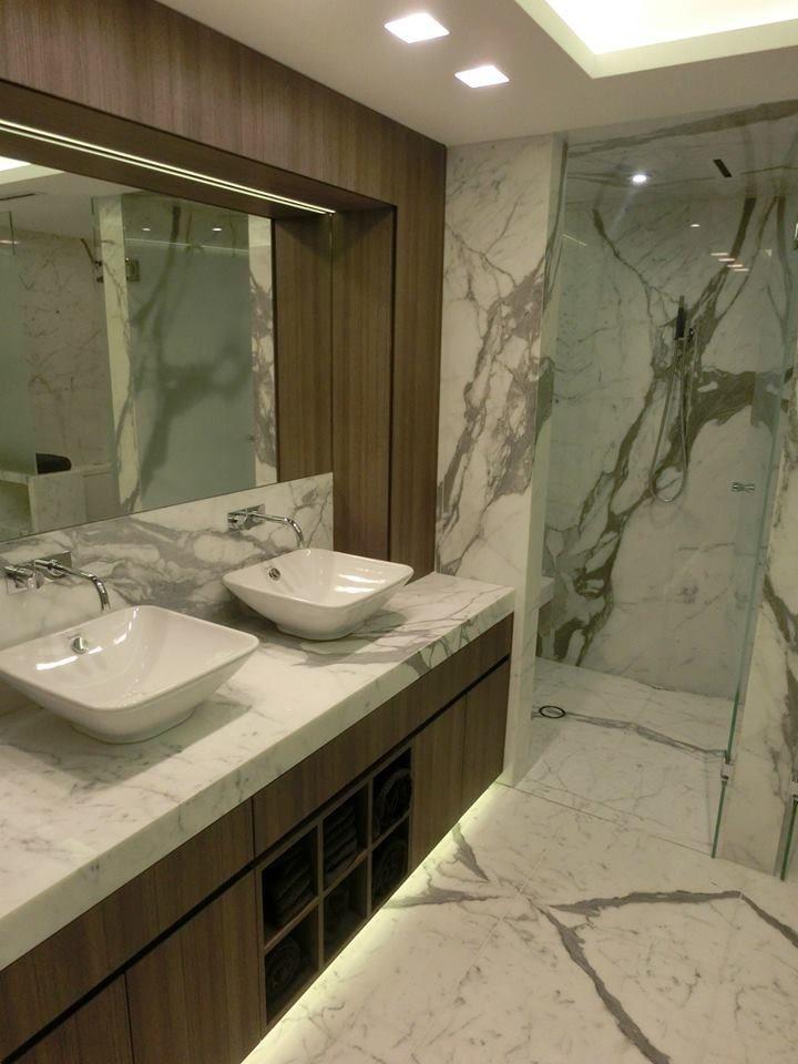 Statuario Venato Bathroom Supplied and Installed by Euro Marble