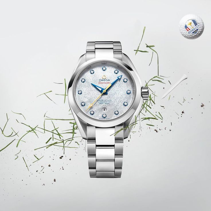 "#RyderCup With its white mother-of-pearl dial and Ryder Cup logo pattern, the new Seamaster Aqua Terra ""Ryder Cup"" 34mm model for women is a stroke of genius. In support of the U.S. Team, it is available in selected boutiques. #omega #omegawatches #watch #watches #seamaster #aquaterra #omegaaquaterraladies #golf #golfball #golftee #golfgreen #green #gousa #weare13"