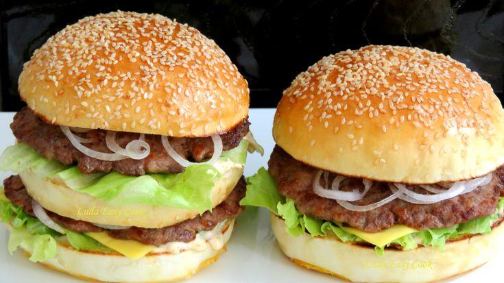 Как сделать БИГ МАК ГАМБУРГЕР ❤ вкусно и просто bánh Hamburger BigMac Ha...