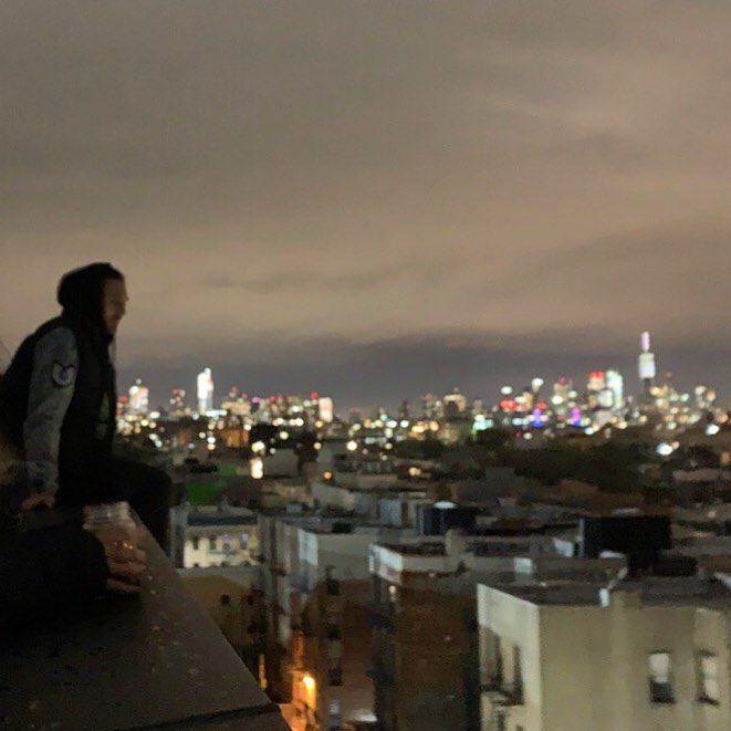 Rooftop Night Sky Nyc City Lights Rooftop Night Sky Nyc City Lights Rooftop Night Night Skies