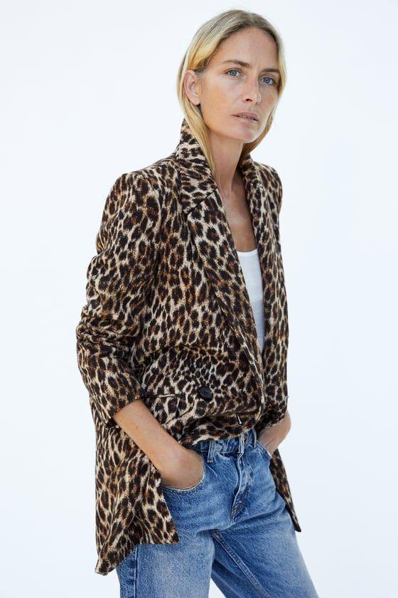 39cad45e11dc Leopard print jacquard coat   Jackets/Coats   Animal print jeans ...