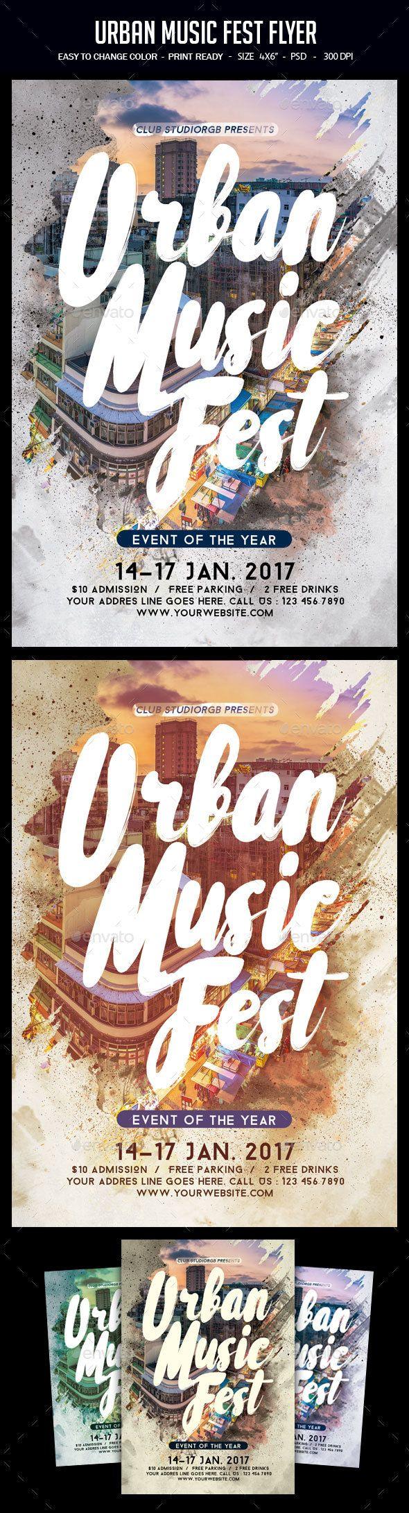 Urban Music Fest Flyer