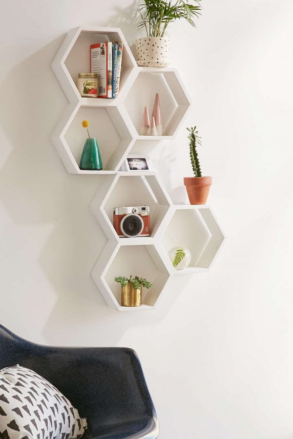 Shop Triple Honeycomb Wooden Shelf at Urban Outfitters today.