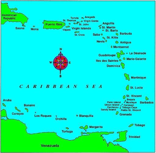 Southern Caribbean Islands Travel Souvenirs Pinterest - Southern caribbean map