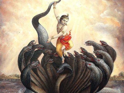 Kaliya Mardan; Krishna's dance on the hoods of the snake Kaliya