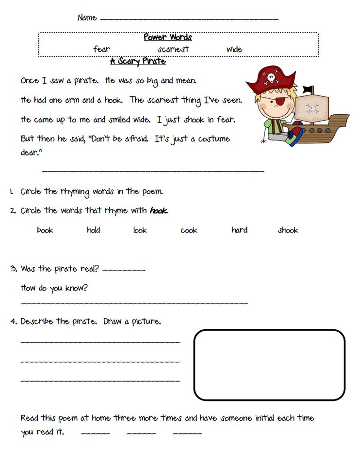Pirates Sample.pdf Fluency passages, Reading worksheets