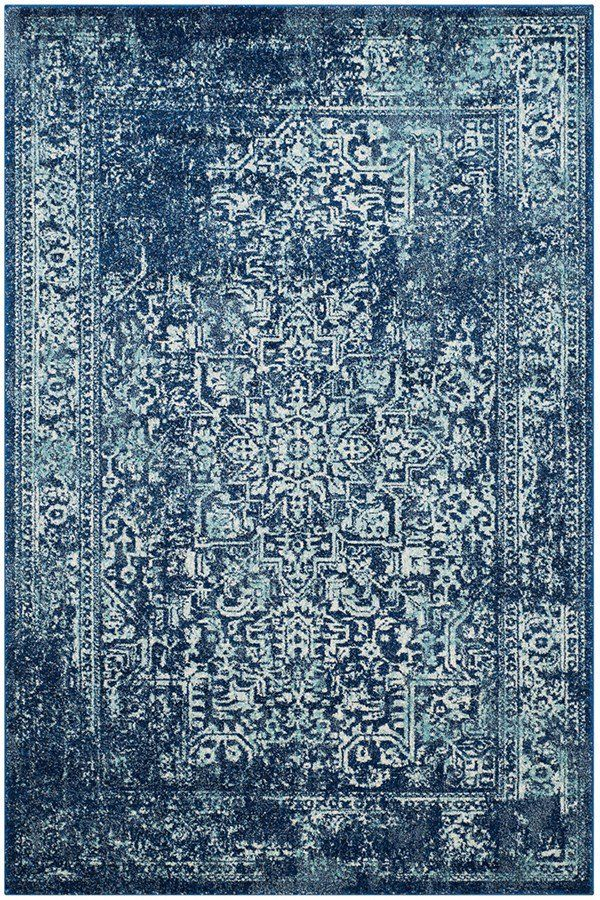 Safavieh Evoke Evk 256 Rugs Rugs Direct 8x10 Rugs In Living Room Navy Area Rug Transitional Rugs