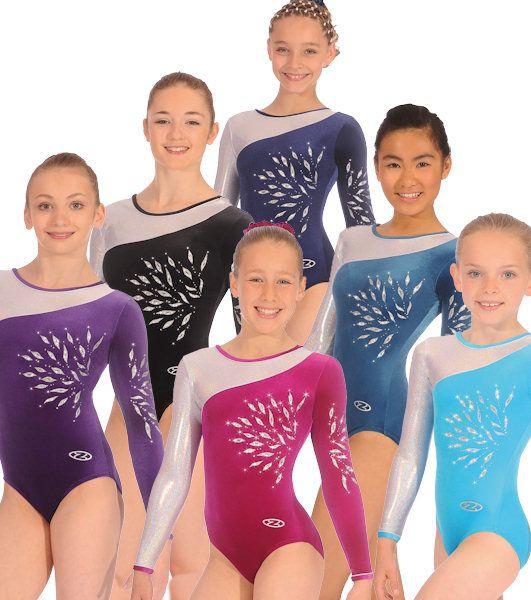 Eclipse Long Sleeved Gymnastics leotard - The Zone Z309ECL - Dancemania Dancewear