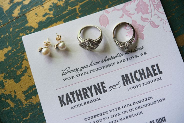 Katie and Michael's invitations are by Kate's Paperie