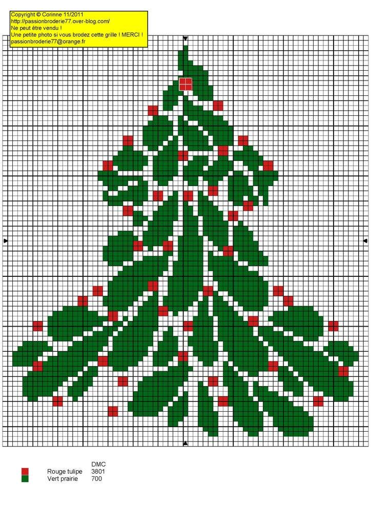 Sapin de Noël rouge et vert - red and green Christmas tree