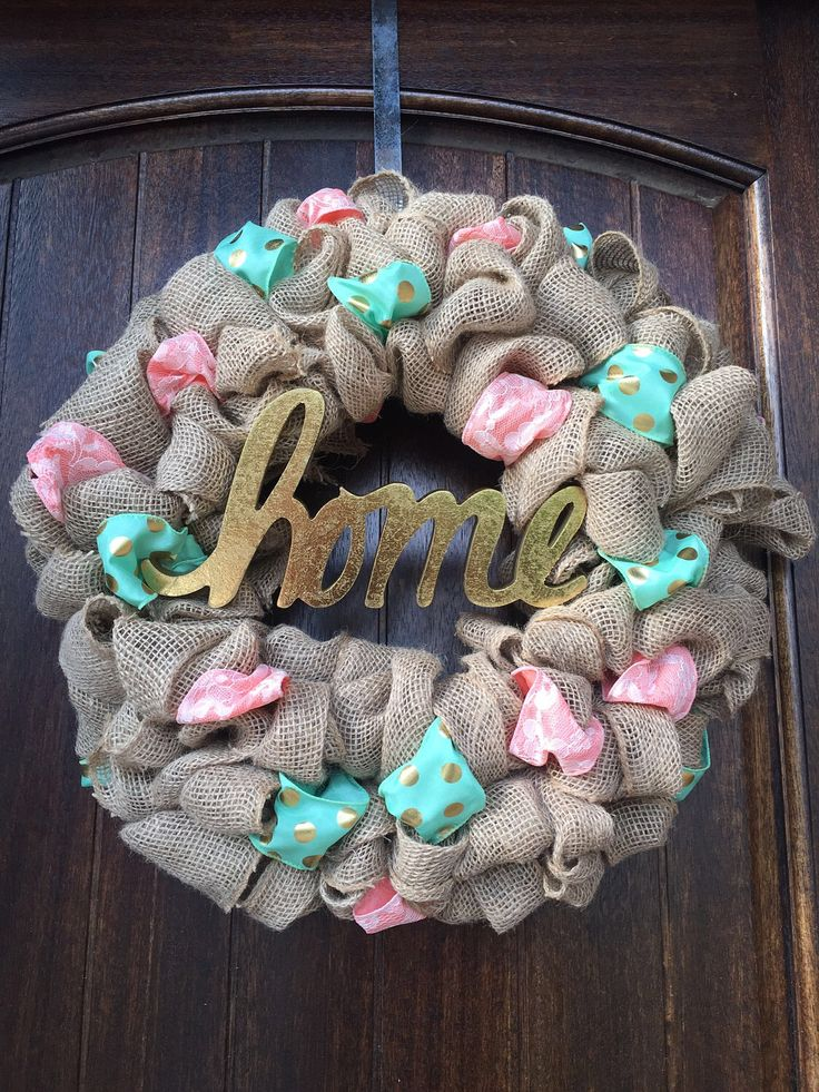 Spring Burlap Wreath, Summer Wreath, Spring Wreath, Burlap Wreath, Year Round Burlap Wreath, Summer Burlap Wreath, Turquoise Wreath, Easter by WreathDreamDesigns on Etsy https://www.etsy.com/listing/521585399/spring-burlap-wreath-summer-wreath