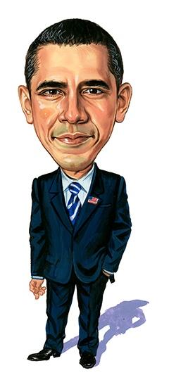 Barack Obama ...artwork by www.ExaggerArt.com