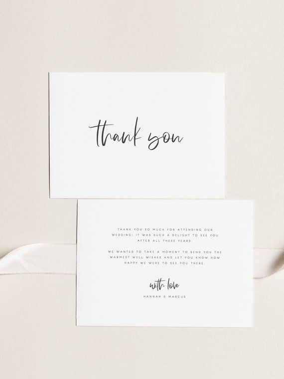 Printable Thank You Card Wedding Thank You Cards Instant Download