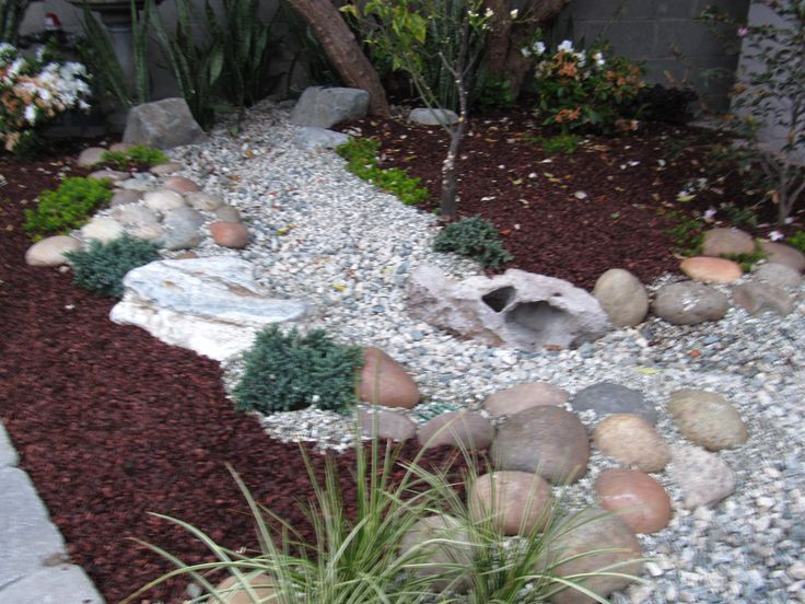 Dry river beds rock garden ideas japanese dry river rock for Rock garden bed ideas