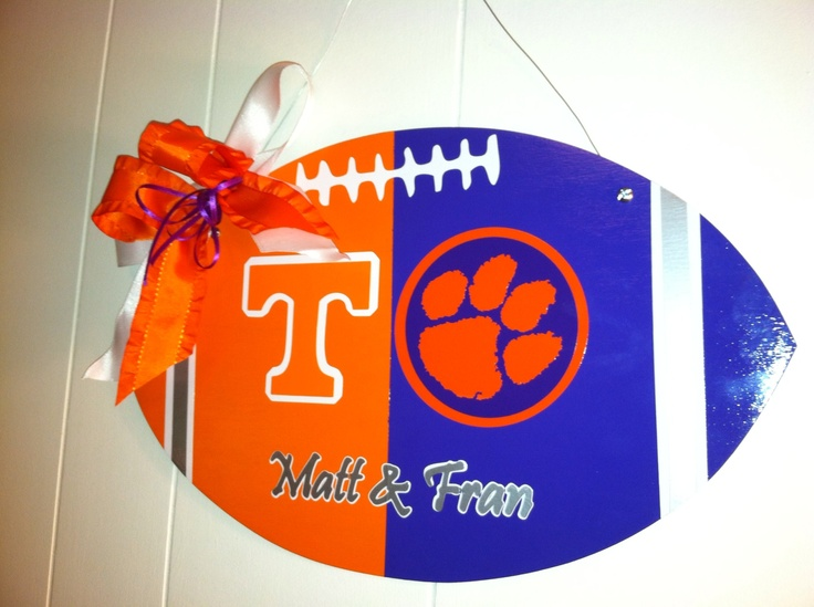 House ided football door hanger & 143 best Divided Houses images on Pinterest | Collage football ...
