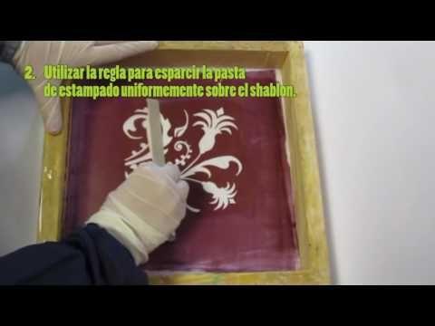 VIDEO PROCESO DE ESTAMPADO CON ESCARCHA – Experimentacion textil artesanal