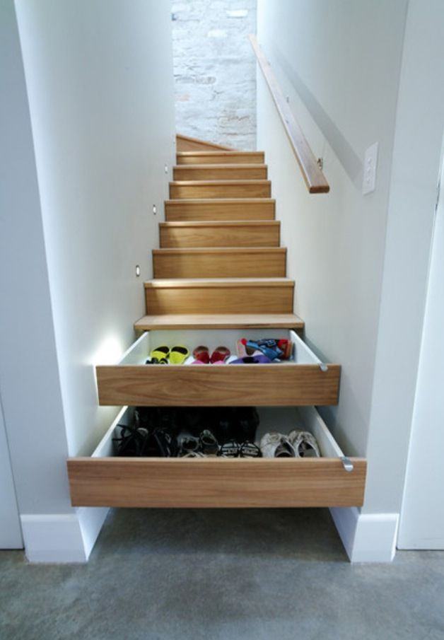 Whattt! So smart and such a space saver when you have kids, etc. less clutter