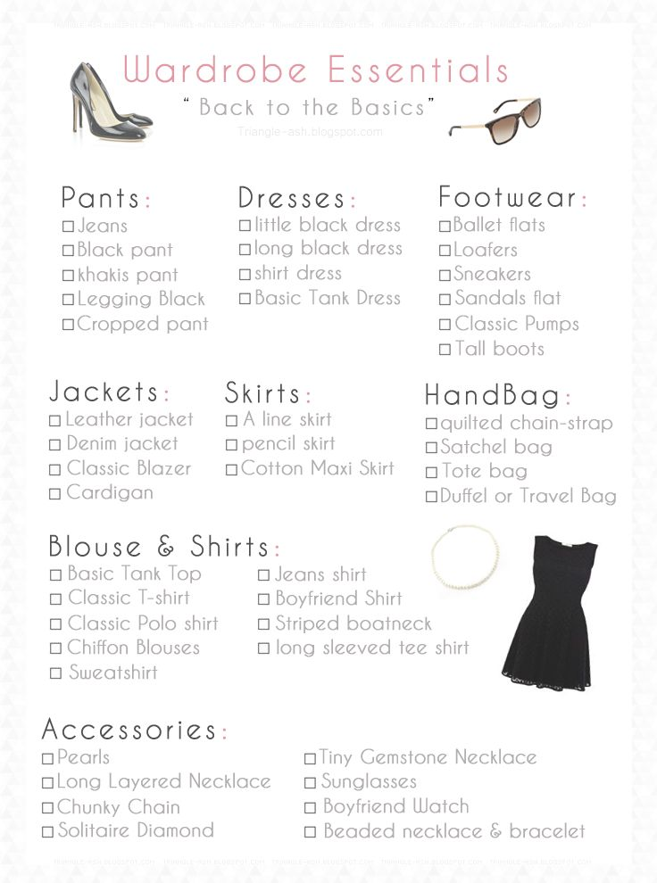 Wardrobe Essentials Checklist