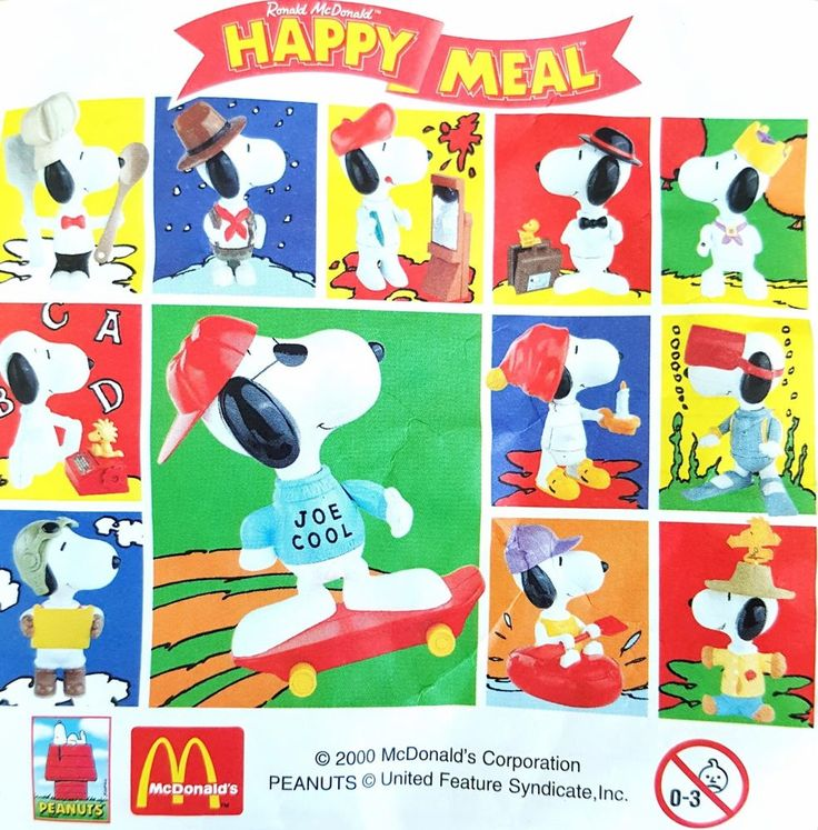 McDonalds Happy Meal Toy 2000 Peanuts Giant SNOOPY Character - VARIOUS   | eBay