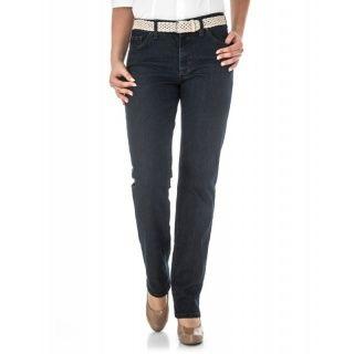 Gerade geschnittene Jeans in schmaler Passform. Dabei garantiert die elastische Material-Qualität einen optimalen Sitz.  Musterung/Druck: uni Leibhöhenbezeichnung: Mittel Verschlussart: Knopf mit Reißverschluss Vordertaschen: 2 Eingrifftaschen und 1 Münztasche Gesäßtaschen: 2 Taschen Material: 78% Baumwolle, 20,5% Polyester, 1,5% Elasthan.