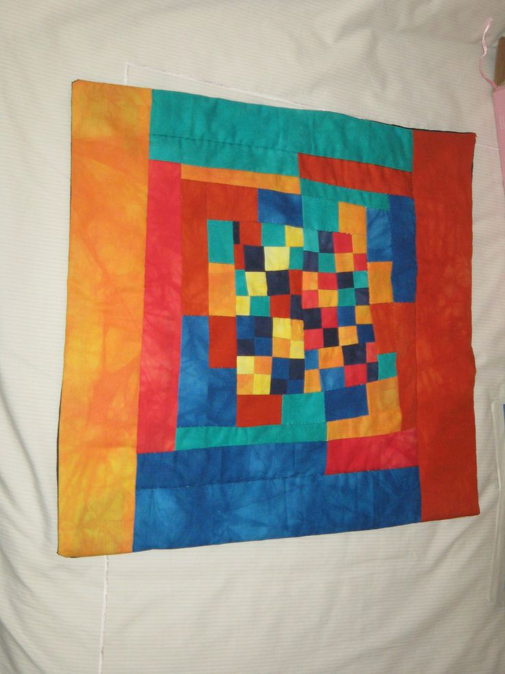 This quilt started off with tiny squares but then I just wanted to finish it.