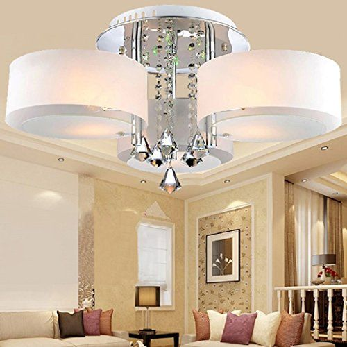ALFRED LED Modern Acrylic Crystal Chandelier 3 Lights (Chrome) , Modern  Ceiling Light Fixture For, Hallway, Bedroom, Living Room Part 43