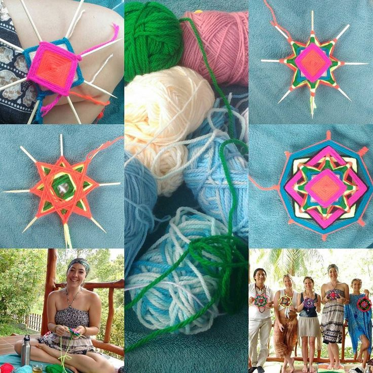 #mexican #mandalas for #healing #workshop #yesterday #kohphangan #wool #intuition #intention #magic #arttherapy #creativity