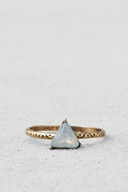 AEO Triangle Ring, Women's, Size: 6, Gold