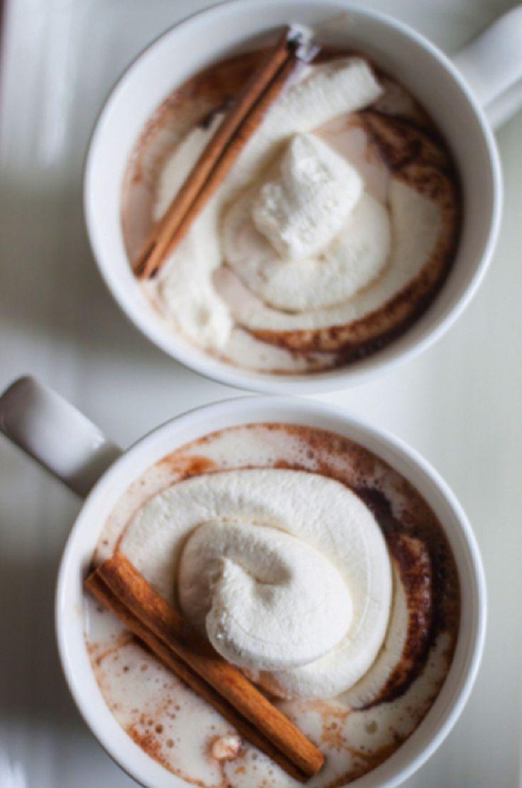 Cinnamon hot chocolate & whipped cream
