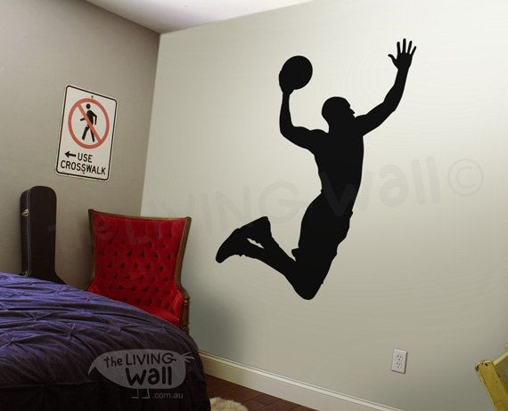 Basketbal muur sticker basketbal Vinyl muur Sticker door LivingWall