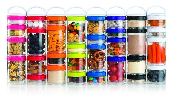 How cool are these GoStak stackable snack containers? Great for healthy eating on the go! | via @FitBottomedGirl