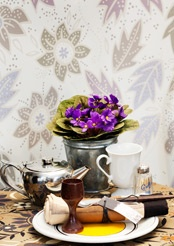 """Yoko"" as wall paper. Buy and save it for future living conditions?  http://www.gudrunsjoden.com/"
