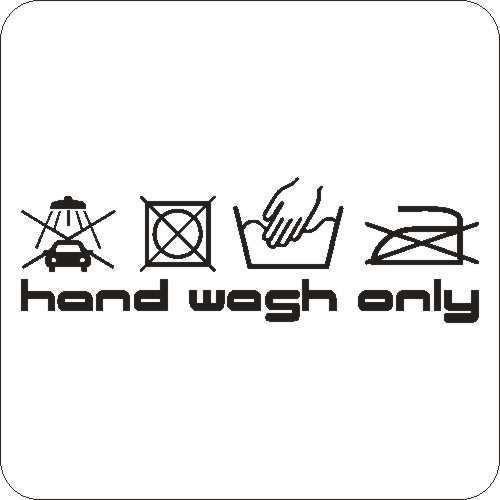 Handwash only BMW Golf  Auto Aufkleber Tattoo
