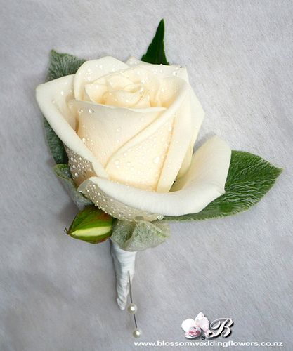 cream-rose-buttonhole by Blossom Wedding Flowers, via Flickr