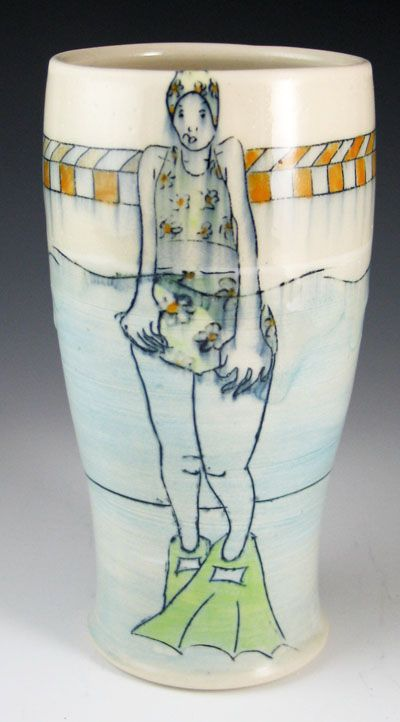 Chandra DeBuse pottery at MudFire Gallery