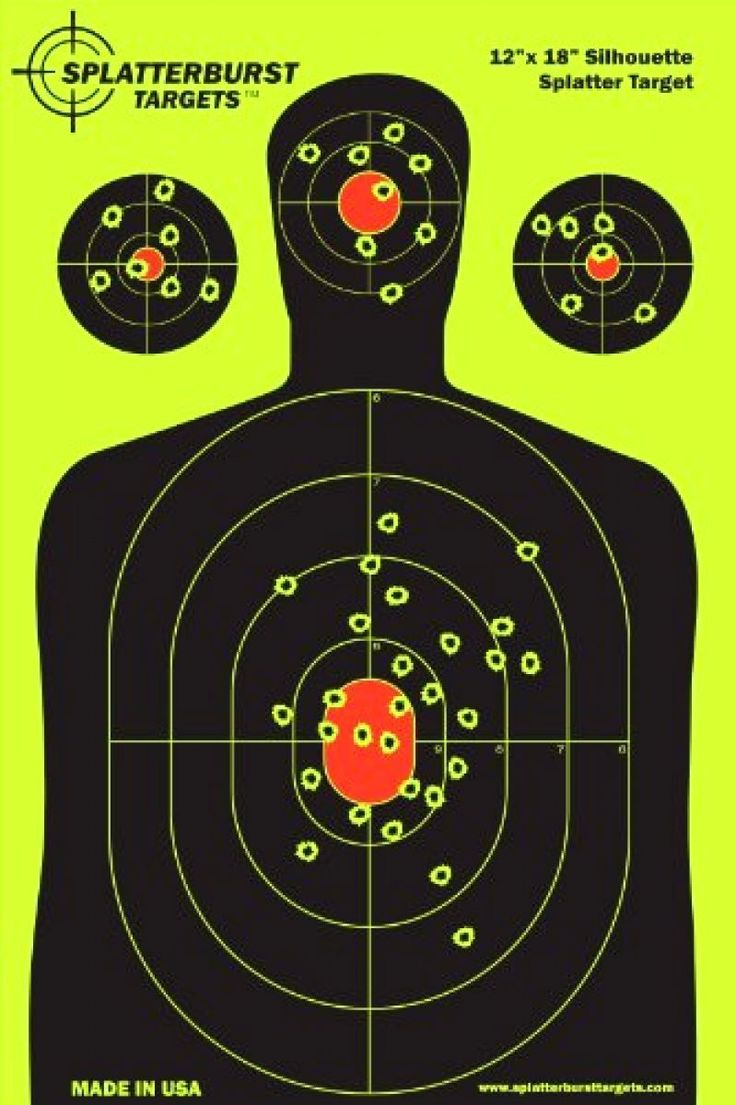 Silhouette Splatter burst Paper Target 5 pack Christmas Holiday Sale for more follow the link...  http://stores.airsoftlegion.com/5-pack-12-x-18-silhouette-splatter-burst-paper-target/