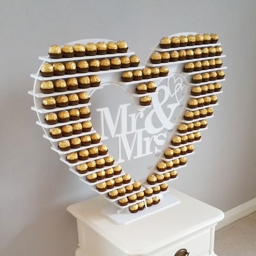 Large Ferrero Rocher Heart Sweet Stand For Hire In
