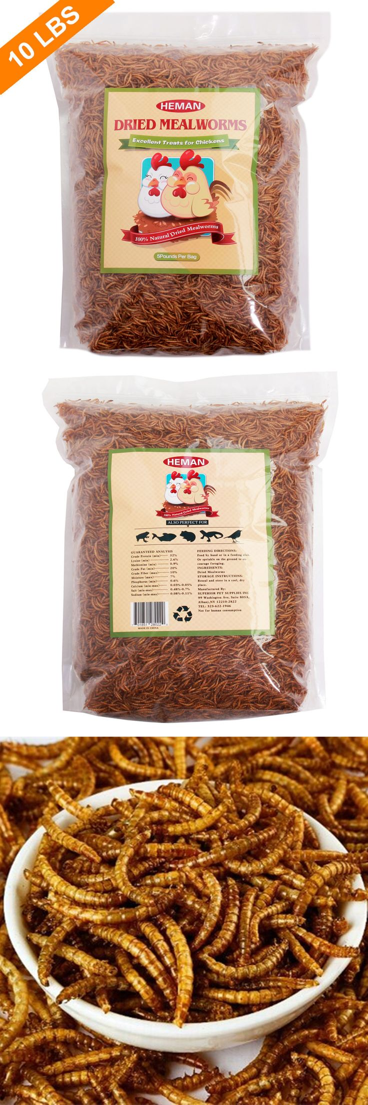 Backyard Poultry Supplies 177801: 10Lbs Bulk Dried Meal Worms For Chicken Treats, Wild Birds Food Etc BUY IT NOW ONLY: $56.99