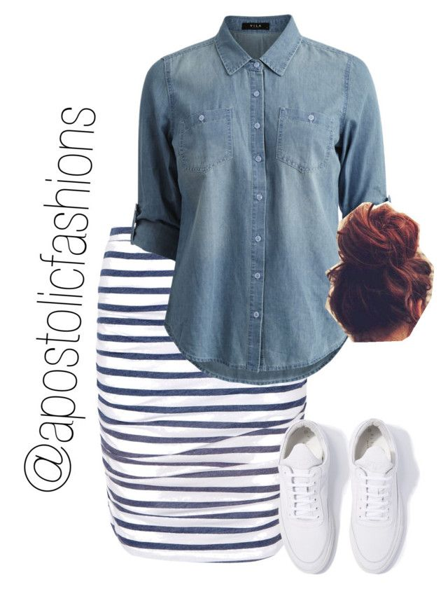 """Apostolic Fashions #1719"" by apostolicfashions on Polyvore featuring Splendid, Vila Milano and Filling Pieces"