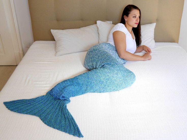 Strickanleitungen - Strickanleitung für eine Meerjungfrauen Decke DIY - ein Designerstück von WoolAffair bei DaWanda