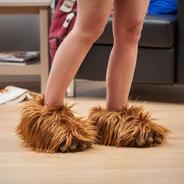 "laughingsquid: "" Star Wars Chewbacca Slippers That Make Wookiee Roars While You Walk """