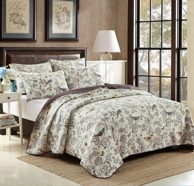 1* bedspread 2 *pillowcases simple style Quilt Set Queen Quilted Bedspreads